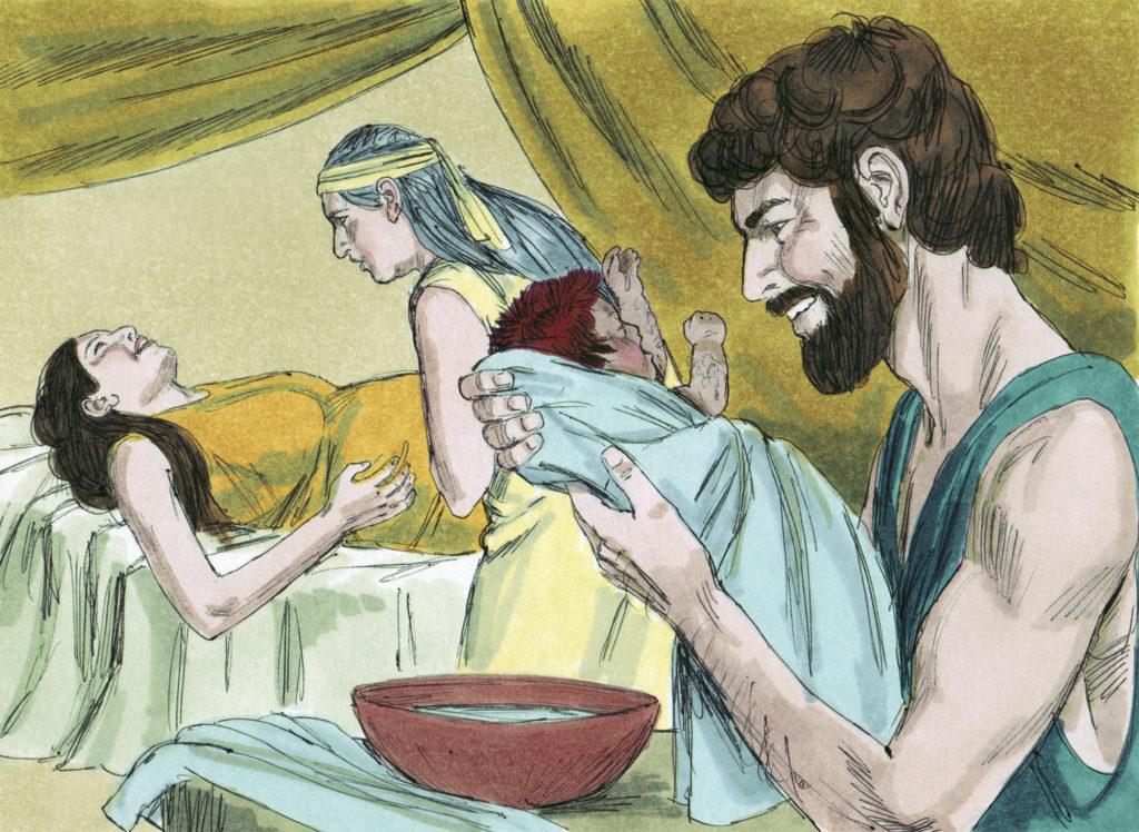 nascimento de esau e jaco
